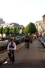 De Visserij is een drukke fietsas. Foto 13 september 2010 18u42, Fietsbult