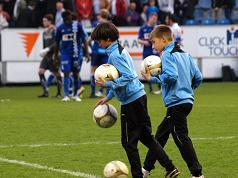 Ballen rapen na een turbulente match