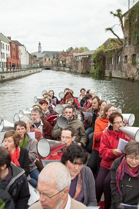 Scheepsroepers op de Gentse binnenwateren