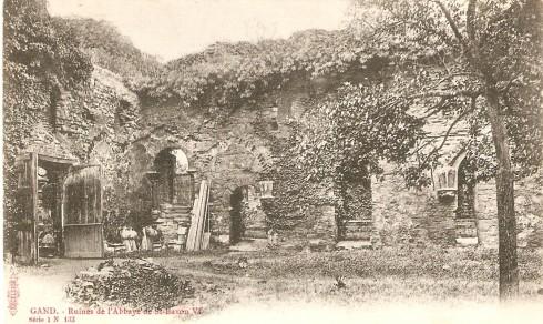 Serie 1 nr. 133 Ruïnes Sint-Baafsabdij VI