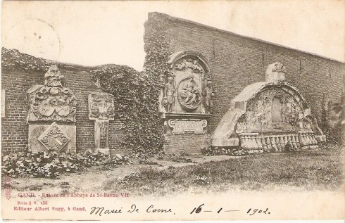 Serie 1 nr. 136 Ruïnes Sint-Baafsabdij VII