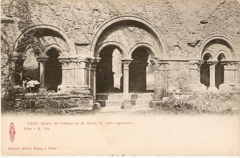 Serie 1 nr. 159 Ruïnes Sint-Baafsabdij IX. Kapittelzaal