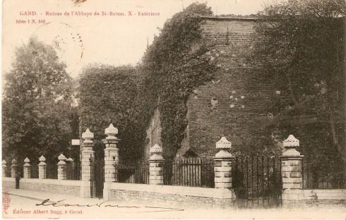 Serie 1 nr. 160 Ruïnes Sint-Baafsabdij X. Buitenkant