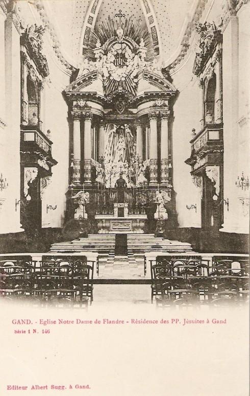 Serie 1 nr. 146 O.L.V.-van-Vlaanderen-kerk - Residentie van de paters jezuïeten te Gent