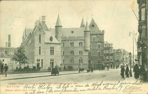 Serie 1 nr. 231 Geraard De Duivelsteen (XIIIde eeuw) gerestaureerd in 1902
