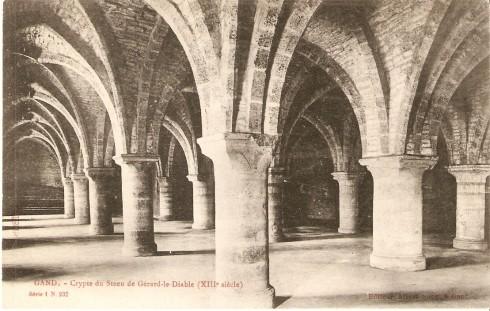 Serie 1 nr. 232 Crypte Geraard De Duivelsteen (XIIIde eeuw)