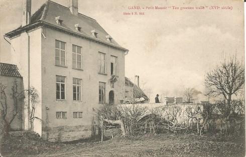 """Serie 1 nr. 244 Het kasteeltje """"Ten groene walle"""" (XVIde eeuw)"""