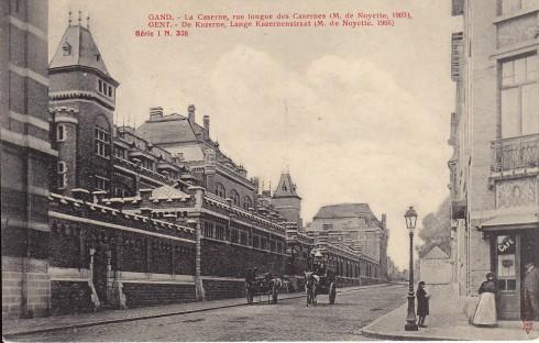 Serie 1 nr. 338 De Kazerne, Lange Kazernenstraat (M. de Noyette, 1905)