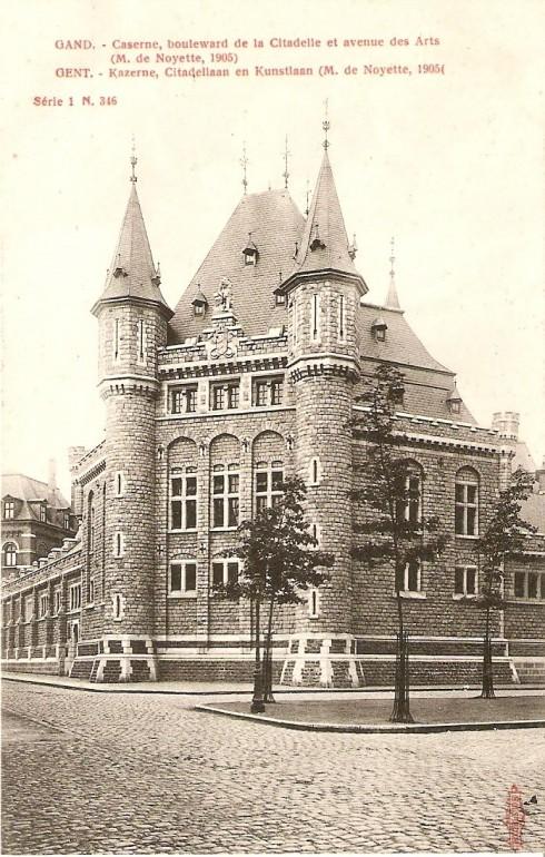 Serie 1 nr. 346 Kazerne, Citadellaan en Kunstlaan (M. de Noyette, 1905)