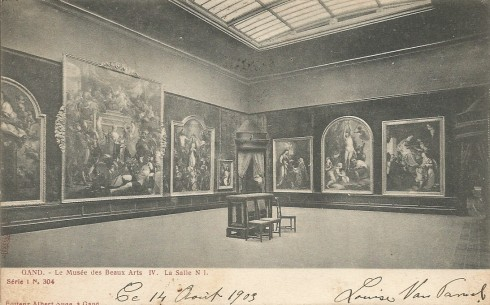 Serie 1 nr. 304 Het Museum voor Schone Kunsten IV. Zaal nr 1.