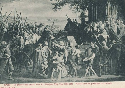 Serie 1 nr. 319 Museum voor Schone Kunsten V. Gustaaf Vanaise 1854-1902 Pieter de Kluizenaar predikt de kruistocht