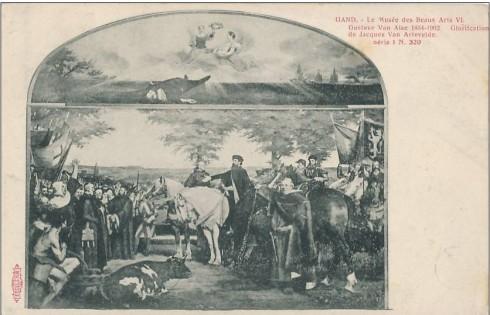 Serie 1 nr. 320 Museum voor Schone Kunsten VI. Gustave Van Aise 1854-1902. De verheerlijking van Jacob Van Artevelde
