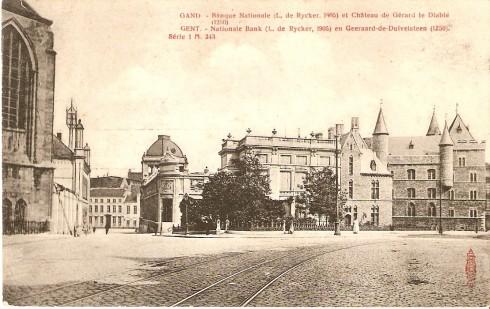Serie 1 nr. 343 Nationale Bank (L. de Rycker, 1905) en Geeraard de Duivelsteen (1250)