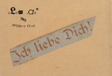 """Raoul Hausmann, """"Ich liebe dich!"""" [to Hannah Höch], 1918, Berlin, Berlinische Galerie, Hannah Höch Archiv"""